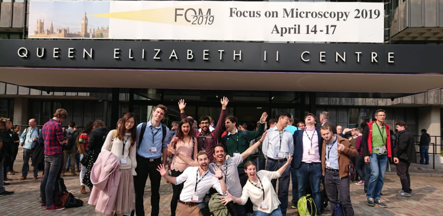 Members of the Laser Analytics Group and the Molecular Neuroscience Group attend FOM2019
